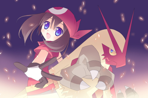 Haruka and Blaziken - Pokémon Fan Art (31344262) - Fanpop fanclubs