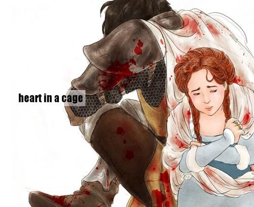 hati, tengah-tengah In A Cage