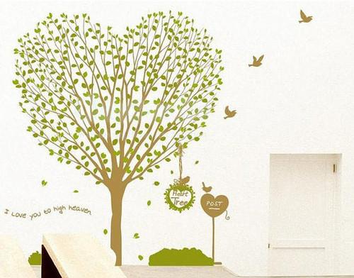 сердце дерево I Любовь Ты To High Heaven Стена Sticker