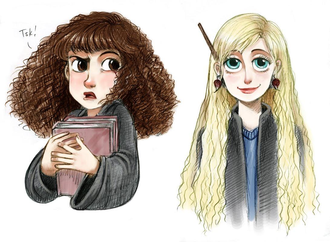 Jeu des dessins hp page 20 - Luna lovegood and hermione granger ...