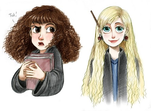 Hermione Granger and Luna Lovegood friendship wallpaper entitled Hermione and Luna