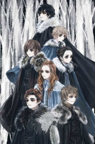 House Stark wallpaper possibly containing anime called House Stark