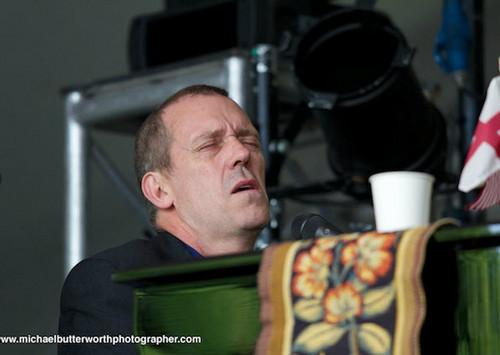 Hugh Laurie at the Cornbury Festival. 2012