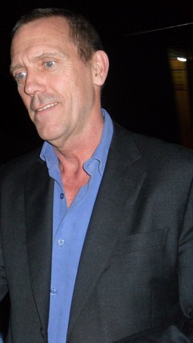 Hugh Laurie at the exit of the Cornbury Festival 2012
