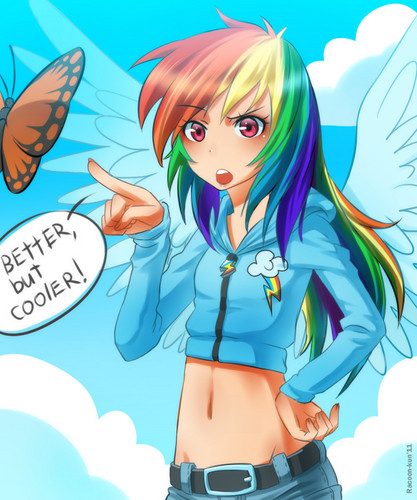 humanized my little pony wallpaper probably with anime called Human MLP