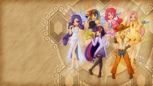 humanized my little pony wallpaper called Human MLP