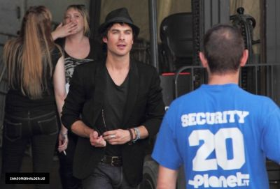Ian Leaving The Crimson Sky Convention in Vienna - ian-somerhalder Photo