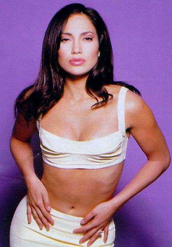 Selena (the movie) wallpaper probably containing attractiveness titled Jennifer Lopez as Selena (Latina magazine 1997)