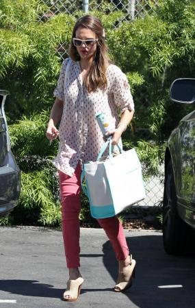 Jessica Alba at her office in Santa Monica [June 27]