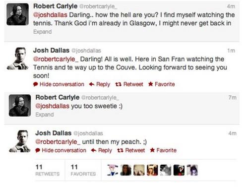 Josh Dallas & Robert Carlyle @ twitter