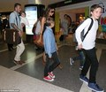 July 5th - LA - The Beckhams at LAX airport