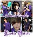 Justin Bieber in purples