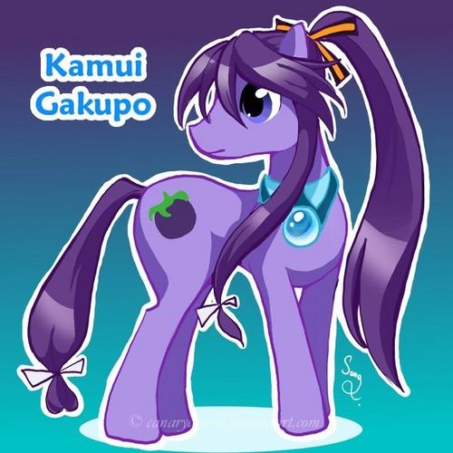 Kamui Gakupo as a pony.