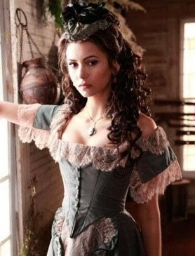 Katerina Petrova wallpaper probably with a kirtle and a polonesa, polonês, polonaise called Katerina in season 1 :)