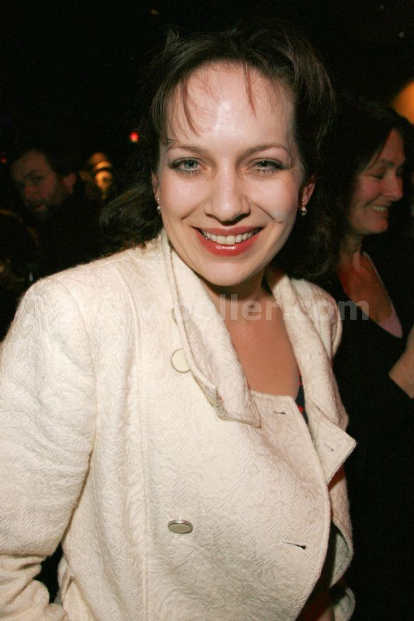 Katherine P. attends the after party on press night for the seagull in the bar at the royal court