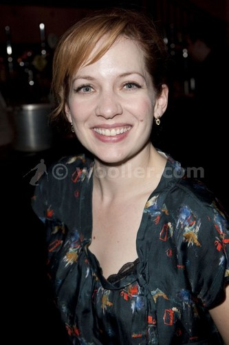 Katherine Parkinson attends the After Party on press night for cock at the royal court theatre.