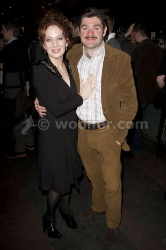 katherine parkinson fondo de pantalla possibly containing a business suit called Katherine Parkinson (diana) attends the after party on press night for Absent friends at mint leaf,