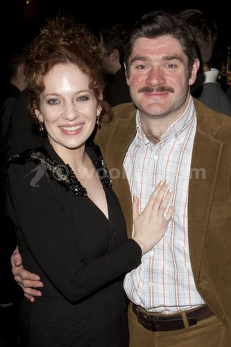 Katherine Parkinson (diana) attends the after party on press night for Absent Marafiki at mint leaf,