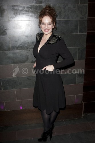Katherine Parkinson (diana) attends the after party on press night for Absent دوستوں at mint leaf,