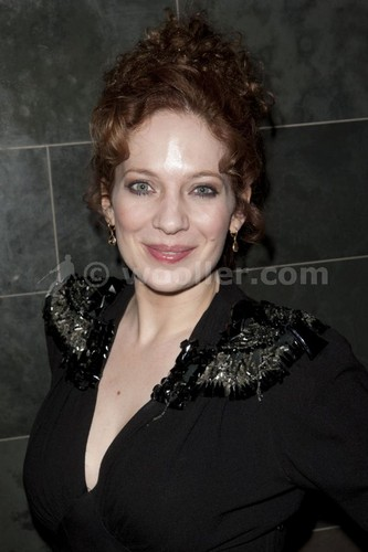 Katherine Parkinson (diana) attends the after party on press night for Absent Friends at mint leaf,