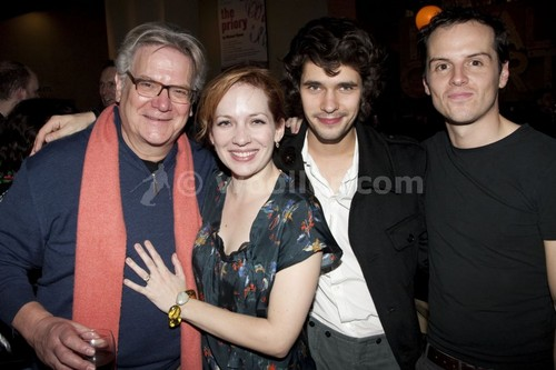 캐서린 파킨슨 바탕화면 titled Katherine Parkinson with James MacDonald, Paul Jesson, Ben Whishaw & Andrew Scott