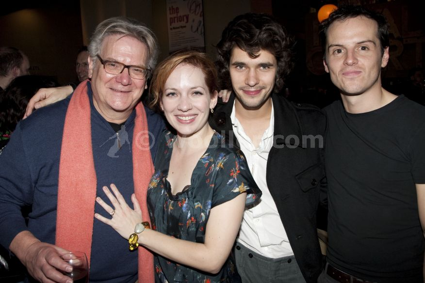 Katherine Parkinson with James MacDonald, Paul Jesson, Ben Whishaw & Andrew Scott