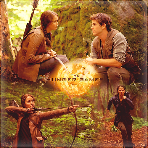 Katniss and Gale - The woods