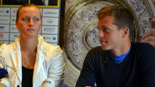 Kvitova and Pavlasek 2012 - tennis Photo
