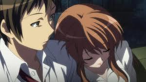 Kyon and Adult Mikuru