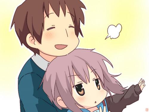 Kyon and Nagato Чиби