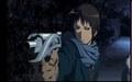 Kyon with gun