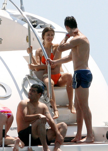 Leaving A Yatch In St Tropez [3 July 2012]