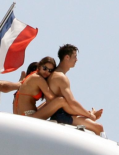 Leaving A Yatch In St Tropez [3 July 2012]