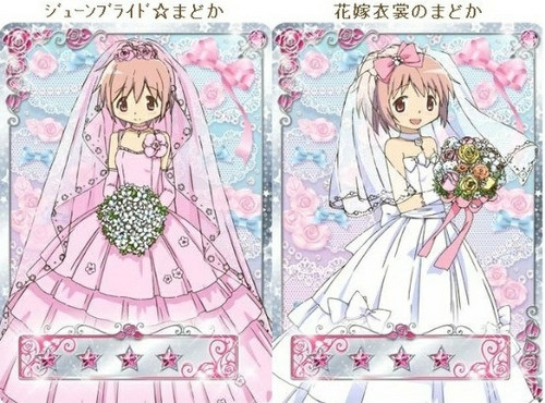 Puella Magi Madoka Magica Обои entitled Madoka Wedding Dresses