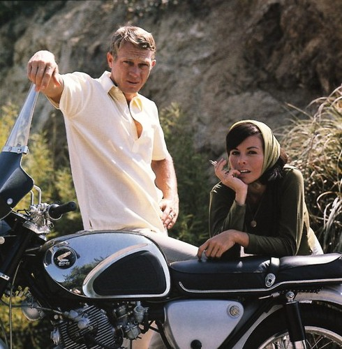 Steve McQueen wallpaper possibly with a motorcycle cop entitled McQueen