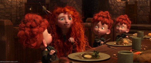 Merida and the Triplets