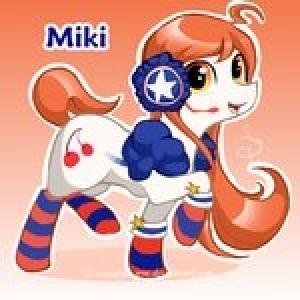Miki as a pony.