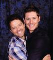 Misha & Jensen Hug!