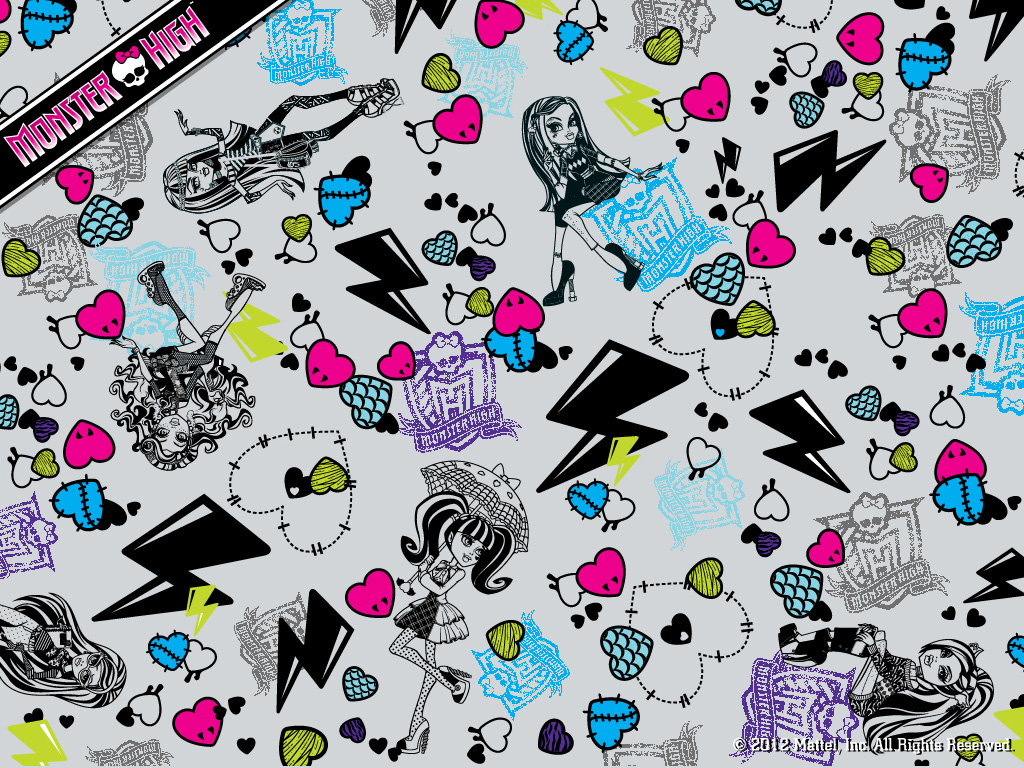 Monster High Collage 바탕화면 1024x768