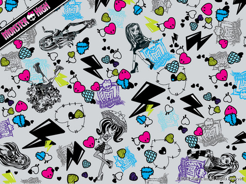 Monster High Collage achtergrond 1024x768