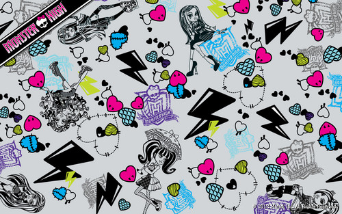 Monster High Collage Wallpaper 1280x800
