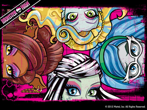 Monster High Eyes Wallpaper 1024x768