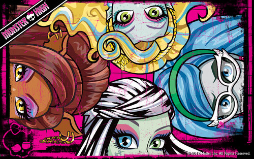 Monster High wallpaper containing anime titled Monster High Eyes Wallpaper 1280x800