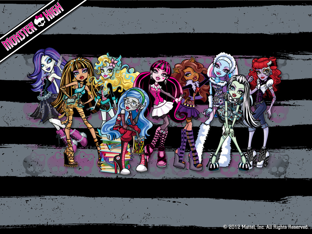 Monster High Ghouls wolpeyper 1024x768