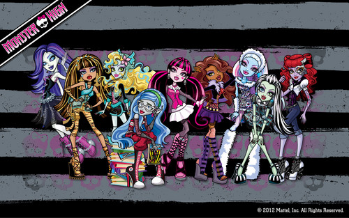 Monster High Ghouls वॉलपेपर 1280x800