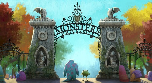 Monster's universidade wallpaper containing a trono entitled Monster universidade Fanart #1
