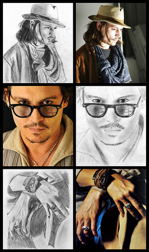 My JD Drawings - johnny-depp Fan Art