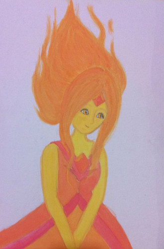 Adventure Time With Finn and Jake wallpaper titled My Painting of Flame Princess