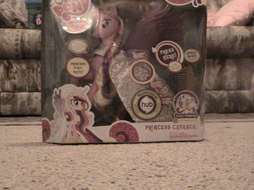 My Talking Princess Cadance toy in the box!