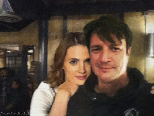 Nathan Fillion & Stana Katic karatasi la kupamba ukuta possibly with a portrait entitled Nathan & Stana upendo